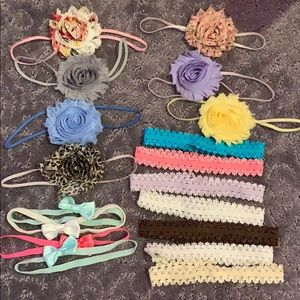 Other - Lot of 18 baby girl headbands